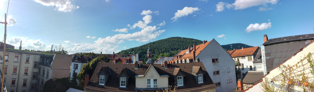 Panorama from a friend's balcony on Plöck